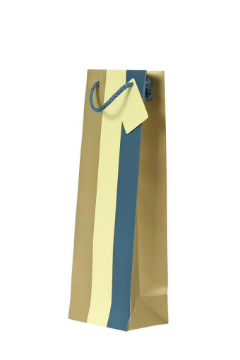 1 Bottle Gift Bag - Wide Coloured Stripe