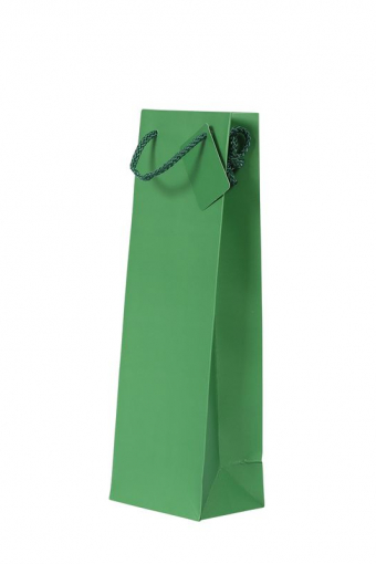 1 Bottle Gift Bag - Plain Green