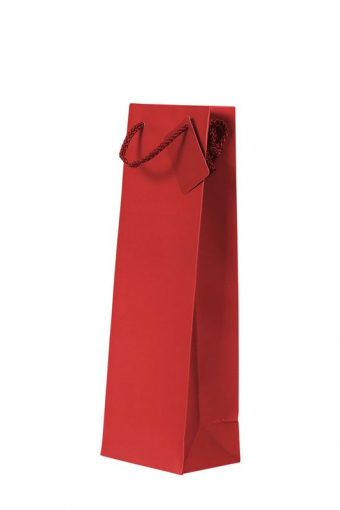 1 Bottle Gift Bag - Plain Red