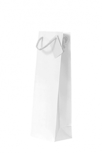 1 Bottle Gift Bag - Plain White