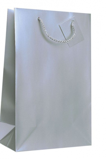 2 Bottle Gift Bag - Silver MS2