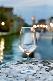 Wine glass in Venice