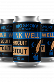 Big Smoke Ink Well Biscuit Stout cans